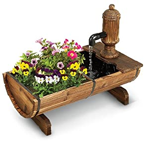 Amazon.com : Cracker Barrel Planter and Fountain : Patio, Lawn