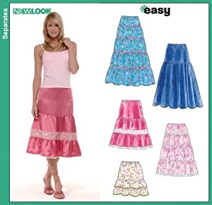 new look 6565 misses below knee length summer skirt size