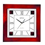 WOOD CRAFT Ws-1132 Sweep Wall Clock (wood Case - White Dial) Size- 32.5 X 32.5 C.m.