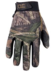 Custom Leathercraft Sportsman M125M Mossy Oak Backcountry Gloves - Size Medium