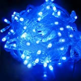 FIDOOVIVIA 30M/50M 300/400 LEDs Waterproof String Fairy Lights For Indoor&Outdoor Wedding Christmas Party Room With UK Plug 8 Operation Modes-Blue White