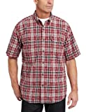 51tSaRstD%2BL. SL160  Carhartt Mens Fort Plaid Short Sleeve Shirt