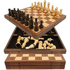 Walnut Book Style Staunton Chess Set