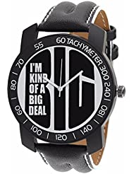 Relish-562 Stylish Black Case Analog Watches For Mens & Boys