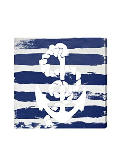 Oliver Gal Anchored To The Ocean Navy Canvas Art, Multi
