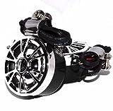 [Nikayoni Store's] 汎用 バイク 用 防水 スピーカー 左右 セット クロームメッキ ハンドル 取り付け 可能 バイク用品 ドレスアップ おしゃれ スポーティ ツーリング