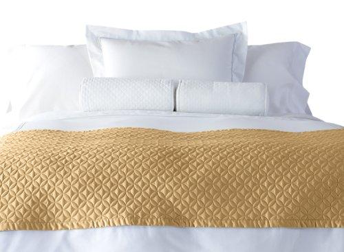 Cuddledown 400 Thread Count Meridian Bed Scarf, Full/Queen, Honey front-891179