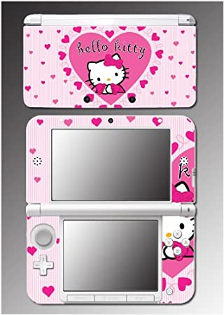 Hello Kitty Pink Hearts Beautiful Princess Video Game Vinyl Decal Cover Skin Protector 9 Nintendo 3DS XL