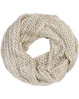 CASPAR - Écharpe tube douce tricotée pour femme avec paillettes - plusieurs coloris - SC330