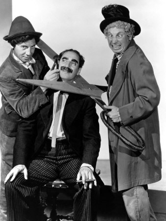 Marx Brothers - Chico, Groucho, Harpo being cut-ups