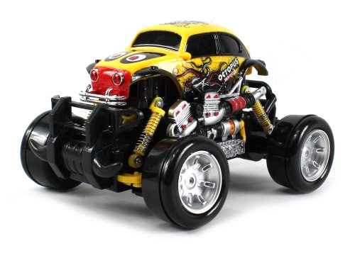 Graffiti Volkswagen Beetle Electric RC Drift Truck 1:18 Scale 4 Wheel Drive Ready To Run RTR, Working Spring Suspension, Perform Various Drifts (Colors May Vary)