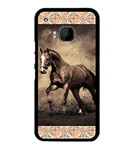 iFasho Brown Horse Back Case Cover for HTC One M9