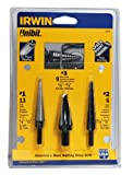 Irwin Industrial Tools 10502 Unibit 502 Step Drill Bit Set, 3-Piece