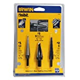 Irwin Industrial Tools 10502 Unibit 502 Step Drill Bit Set, 3-Piece ~ Irwin Tools