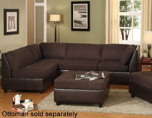 Discount 4 pcs Sectional Sofa Set with Contemporary Style Design in