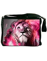 Snoogg God Of The Forest Computer Padded Compartment Carrying Case Laptop Notebook Shoulder Messenger Bag