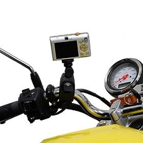 『bikepartscenter』 バイク用 カメラマウント カメラ装着などに!マウントホルダー デジカメ固定用等