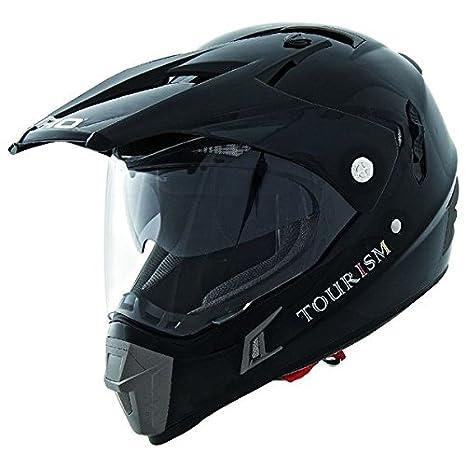 Casque moto cross SHIRO MX-311 TOURISM - Noir