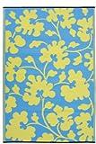 Oslo - Turquoise & Lemon Yellow (6' x 9')
