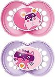 MAM Original chupetes con funda de viaje protectora Esterilizable (12meses Plus), color rosa