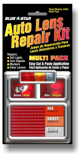 Blue Star Auto Tail Light Lens Repair Kit, Amber