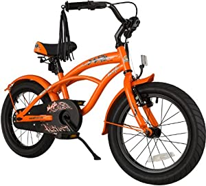 bike*star 40.6cm (16 Zoll) Kinder-Fahrrad Cruiser - Orange by Star-Trademarks