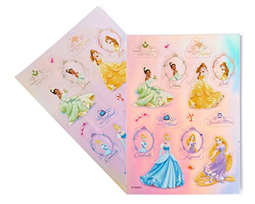 Disney Princess Sticker Sheets, Prismatic, 2 Count,  Party Supplies