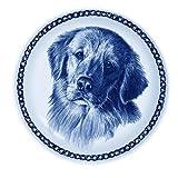 デンマーク製 ドッグ・プレート (犬の絵皿) 直輸入! Golden Retriever / ゴールデン・レトリーバー