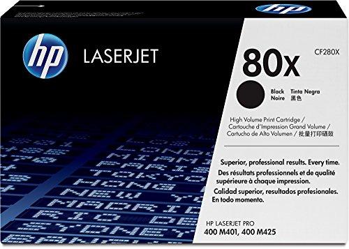 HP CF280X Toner per stampanti Laserjet 80x ad alta capacità, colore Nero