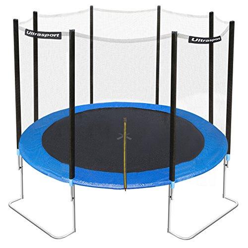 Ultrasport Trampolino da Giardino Jumper, Inclusa Rete di Sicurezza, Blu, 366 cm