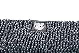 Vorleger für Katzentoiletten grau 38 × 60 cm | Microfaser | Chenille -