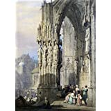 Porch of Ratisbon Cathedral, by Samuel Prout (Print On Demand)