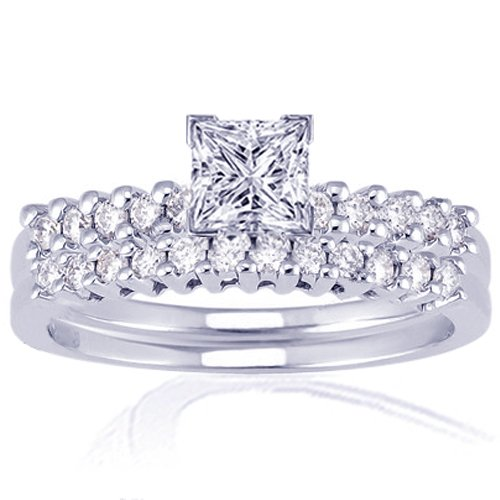 1.35 Ct Princess Cut Diamond Engagement Wedding 