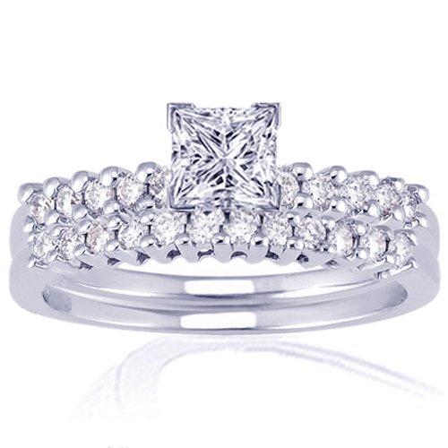 1.35 Ct Princess Cut Diamond Engagement Wedding