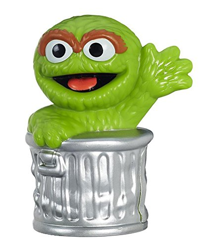 Sesame Street, Oscar The Grouch Figure, 2.5 Inches
