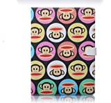 Thatisgreat Newest Ipad Air(ipad 5, Ipad 5th Generation)(for Ipad Air, Air) Slim Pu Leather Paul Frank Bag Case Accessory with Auto Sleep/wake Function (Black Monkeys)