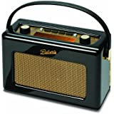 Roberts RD60 Revival DAB/FM RDS Digital Radio with Up to 120 Hours Battery Life - Piano Gloss Black