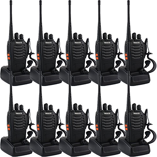 Retevis-H-777-Two-Way-Radio-Long-Range-UHF-400-470-MHz-Signal-Frequency-Single-Band-16-Channels-with-Original-Earpiece-Pack-of-10