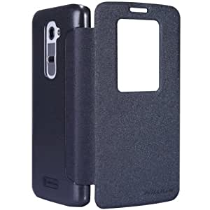 Nillkin 2056 Sparkle PU Leather Flip Cover Case For LG G2 D802 (Shiny Black)