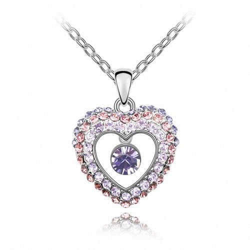 TAOTAOHAS- [ Search Name: Princess From The West ] (1PC) Crystallized Swarovski Elements Austria Crystal Pendant Necklace, 18KGP Marked, Made of Alloy Plated with 18K True Platinum / White Gold and Czech Rhinestone