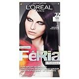 L'Oreal Paris Feria Permanent Hair Colour, Mystic Black Number 22 - Pack of 3