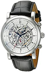 Lucien Piccard Men's LP-40010A-02S Sultan Stainless Steel Watch with Black Leather Band