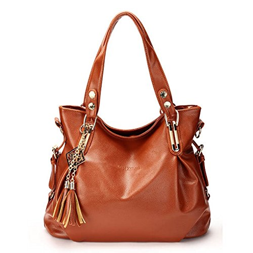 Retro Shoulder Casual Women Tassel Bag Round Handbag Ladies Womens Clutch Cross Body ( Brown ) (Foodsaver 1 Gallon Bags compare prices)