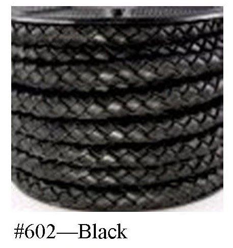 Black, Braided Bolo Cord, 10MM (3/8