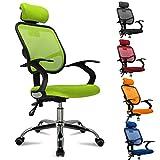 Popamazing Multicolor Swivel Stylish Fabric Mesh Office Furniture Excutive Desk Chair New (Style A, Green)