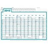 weekview Wandplaner 2015, DIN A1, innovativ! Wochen in Reihe! Jahresvorschau 2016, Lieferung gefaltet