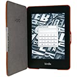 HOKO Brown Slim Leather Flip Case Cover With Magnetic Closure For Kindle Paperwhite 2nd Generation (Auto Wake...