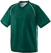 Augusta Men39s V Neck Raglan Sleeve Jersey Dark Green White Small