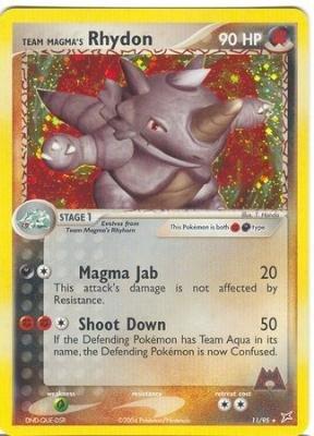 Team Magma's Rhydon - EX Team Aqua vs. Team Magma - 11 [Toy]