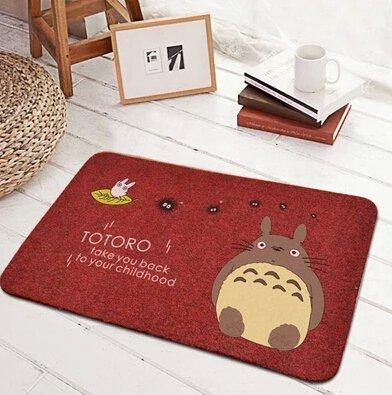 Sytian® New Arrival My Neighbor Totoro Area Rug Soft Nonslip Doormat Floor Mat Absorbent Bathmat Bathroom Shower Rug Carpet (Red,40*60cm)